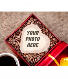 Photomontage to put your picture in a heart shaped cookie