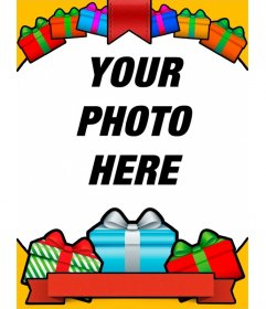 Birthday card with with colorful gifts for your photos