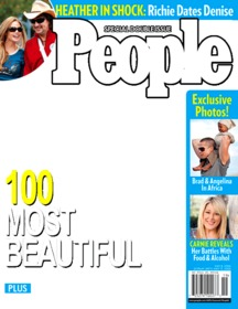 Photomontage to put your photo on People magazine cover