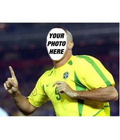 Transform into Ronaldo, the Brazilian football player with this effect