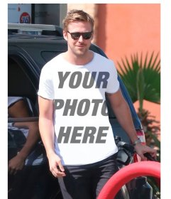Put your picture on the T-shirt of Ryan Gosling