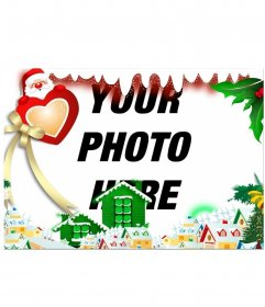 Surround your image with a Christmas Village editing this online effect