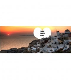 Photomontage to put your photo on a Facebook Cover Create a spectacular Santorini