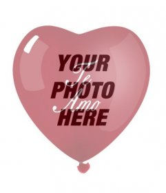 """Your picture with the transparency of a heart shaped balloon with a red """"I love you."""" Ideal for Valentine""""s Day"""