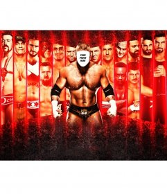 Photomontage to put your face on a wrestler with a striking effect