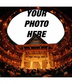 Photomontage to put your photo on the ceiling of a theater