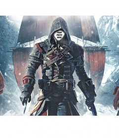 Photomontage of Assassins Creed to put your face on the character