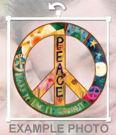 Sticker with the peace sign