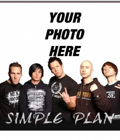 Your photo with the members of the band Simple Plan with this effect