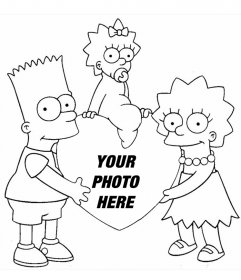 Photomontage to coloring of The Simpsons where you can add your photo