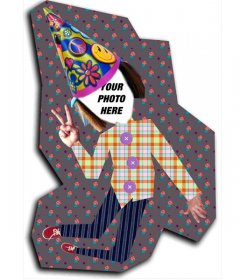 Photomontage of paper doll to put your face
