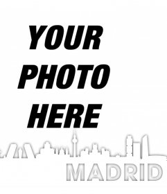 Silhouette of the city of Madrid to edit your photo for free
