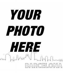 Decorate your photos with the skyline of the Barcelona city with this effect