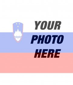 Put your picture with the flag of Slovenia with this photo montage online