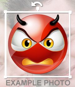 Demon Smiley pissed off to put on your photo as a sticker