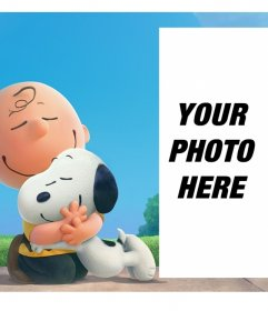 The best friends Snoopy and Charlie Brown accompanying you in your photo