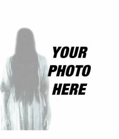 Photomontage of the ghost girl from THE RING, which can make a montage of the spirit in your photo