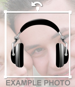 Sticker of DJ headphones that you can put on your photos