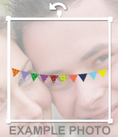 Party pennants that you can add on your photos online to decorate