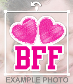 Show who is your best friend with this sticker of BFF icon