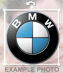 BMW logo sticker for your photos