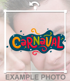Decorate your photos with this sticker of CARNAVAL for free