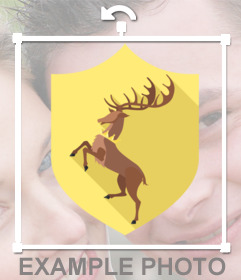 Photo effect to add the shield of Baratheon House on your photos
