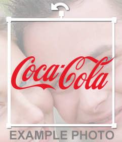 Sticker of Coca Cola logo for your photos