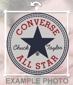 Sticker of the classic logo of Converse brand for your photo