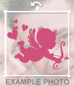 Cupid sticker to put on of your photos