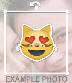 Cat emoticon sticker for your photos