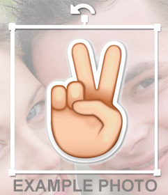 Emoji of the hand V shape to paste in your photos as sticker
