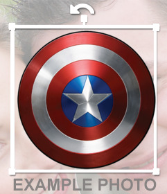 Captain Americas shield that you can add on your photos for free