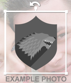 Shield for your photos of House Stark for free