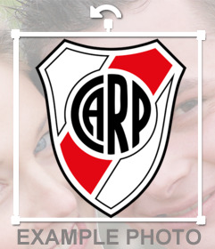 Sticker of the Club Atletico River Plate shield to paste in your pictures