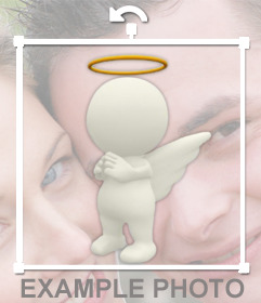 Good angel to put on your photos and for free