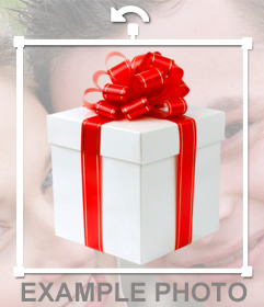 Sticker of a gift box to put on your pictures