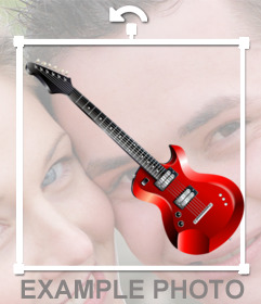 An electric guitar to put on your photos with this sticker