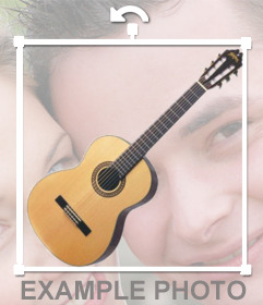 Add a Spanish guitar to your photos with this sticker