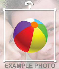 Colored beach ball to paste on your pictures