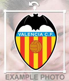 Photo effect to upload your photo and put the VALENCIA CF shield