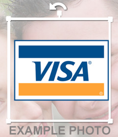 Sticker of VISA credit card logo for your photos