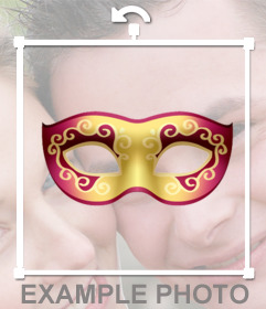 Carnival mask to put on your photos free