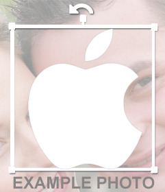 Decorative logo sticker of Apple to paste on your pictures