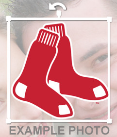 Sticker logo of the Red Sox to put on your pictures
