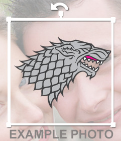 Wolf symbol of House Stark to put on your pictures