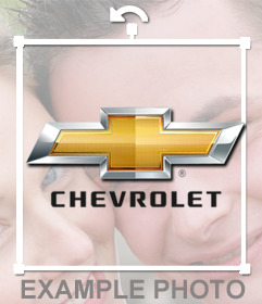 Chevrolet logo sticker for your photos