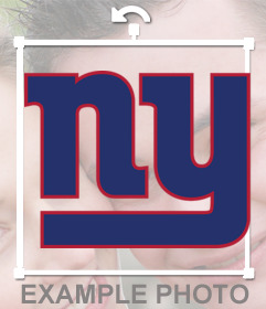 Logo Sticker of New York Giants for your photo