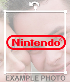 Paste the logo of NINTENDO in your photo uploading it to this online effect