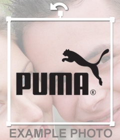 Puma logo sticker to put on your photos